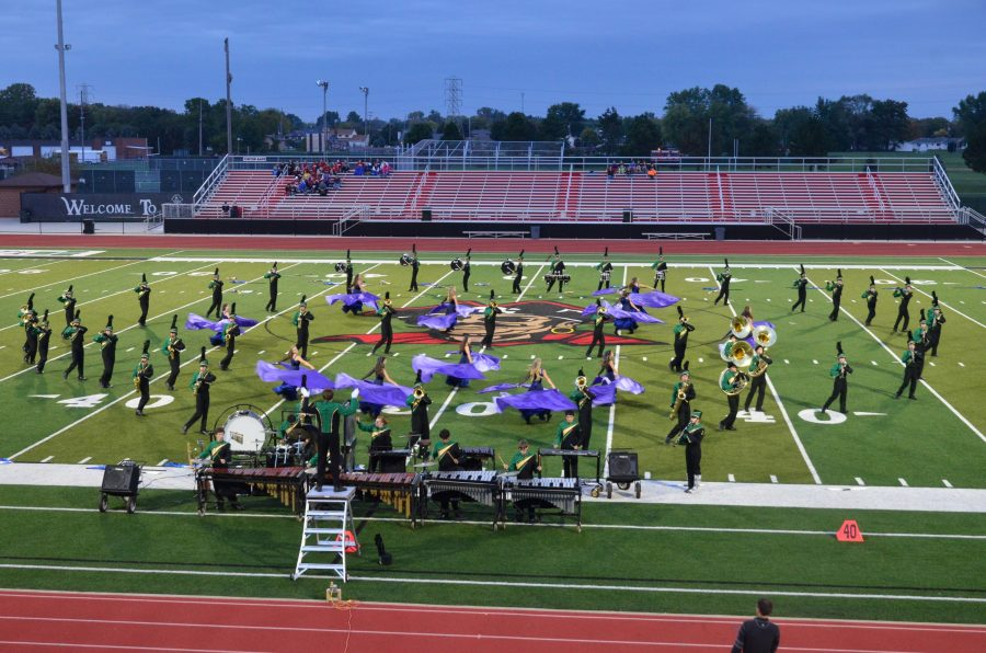 Marching+Band+Prepares+for+Third+Competition+Performance+in+Warsaw%2C+Ohio