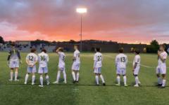 St. Edward Soccer on a picturesque evening post-victory. Photo courtesy of Dakota Jonke '22