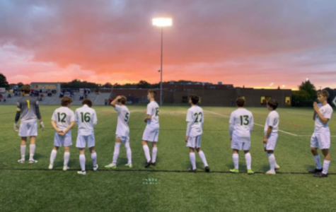 St. Edward Soccer on a picturesque evening post-victory. Photo courtesy of Dakota Jonke '22